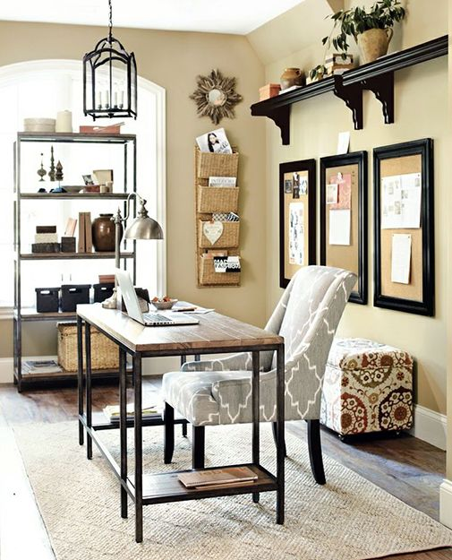 20 Inspiring Home Office Design Ideas For Small Spaces: Home Inspiration