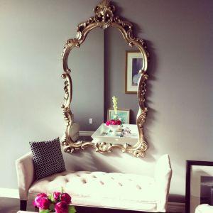 spiegel met bankje